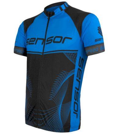 CYKLO TEAM UP Pánský cyklistický dres 20100044 černá/modrá XXL