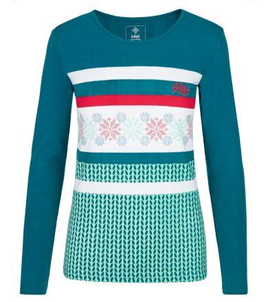 KILPI Dámské triko dlouhý rukáv JULS-W NL0101KITRQ Tyrkysová 34