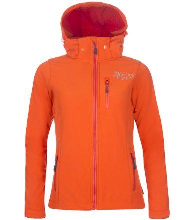 ALPINE PRO NOOTKA 5 Dámská softshellová bunda LJCN310339 tmavě oranžová XS