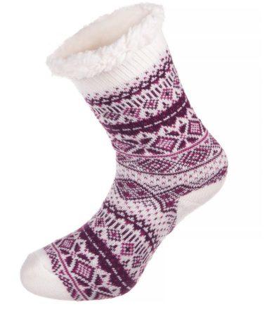 ALPINE PRO SINNIR 2 Unisex ponožky USCM048411 fuchsiová S