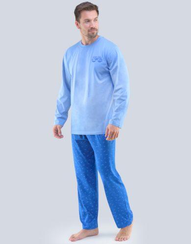 GINA Pánské pyžamo dlouhé 79089-MBMDBM sv. modrá-atlantic M