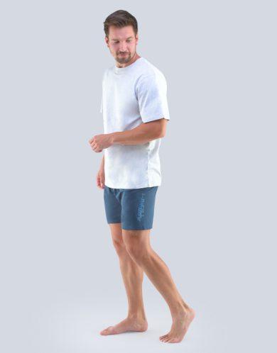 GINA Pánské pyžamo krátké 79102-LxGDxG sv.šedá-tm.šedá L