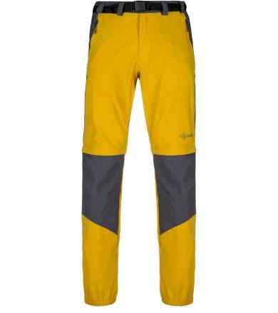 KILPI Pánské outdoorové kalhoty HOSIO-M KM0082KIYEL Žlutá 3XL
