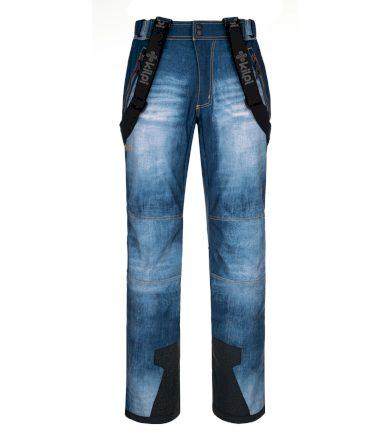KILPI Pánské lyžařské kalhoty - větší velikosti JEANSO-M NMX034KIBLU Modrá 5XL