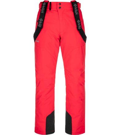 KILPI Pánské lyžařské kalhoty - větší velikosti MIMAS-M NMX029KIRED Červená 4XL