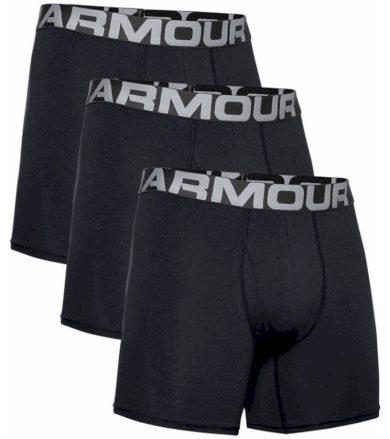 Under Armour Charged Cotton 6in Pánské boxerky - 3 kusy 1363617-001 Black M