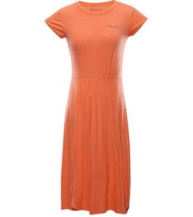 ALPINE PRO PERIKA Dámské šaty LSKT289312 fresh salmon S