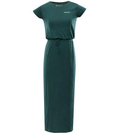 ALPINE PRO RISA Dámské dlouhé šaty LSKT288500 smaragdová M