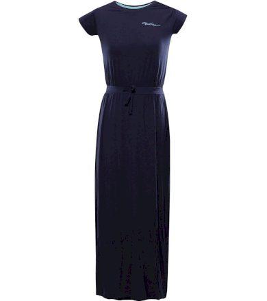 ALPINE PRO RISA Dámské dlouhé šaty LSKT288602 mood indigo S