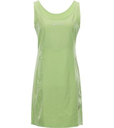 ALPINE PRO ELANDA 4 Dámské šaty LSKT285552 francouzká zelená S