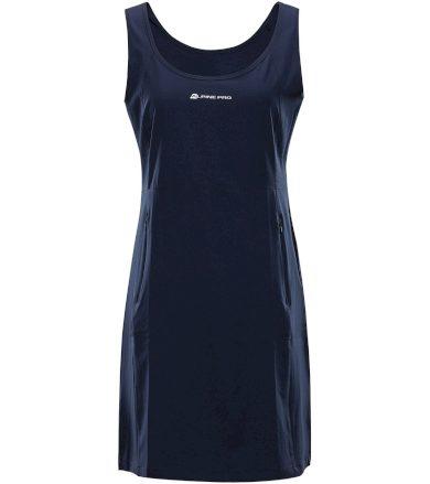 ALPINE PRO ELANDA 4 Dámské šaty LSKT285602 mood indigo S