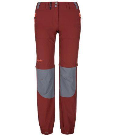 KILPI Dámské outdoorové kalhoty HOSIO-W PL0024KIDRD Červená 34