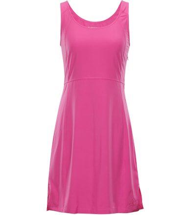 ALPINE PRO ELANDA 3 Dámské šaty LSKN150415 Fuchsiová růžová XS