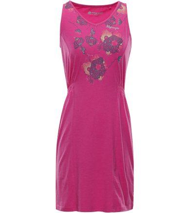 ALPINE PRO VICA Dámské šaty LSKN152415PB Fuchsiová růžová XXL