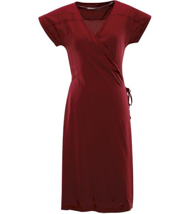ALPINE PRO SOLEIA Dámské šaty LSKR225846 rosewood XS
