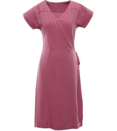 ALPINE PRO SOLEIA Dámské šaty LSKR225893 bordeaux XS