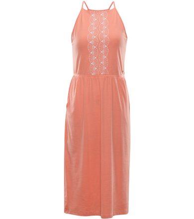 ALPINE PRO GYRA Dámské šaty LSKR221328PE peach pink L