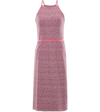 ALPINE PRO GYRA Dámské šaty LSKR221893PB bordeaux L