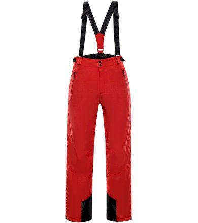 ALPINE PRO MOLINI 3 Pánské lyžařské kalhoty MPAK211475 purpurový plamen S
