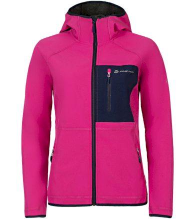 ALPINE PRO STORMA Dámská softshellová bunda LJCN309415 Fuchsiová růžová S