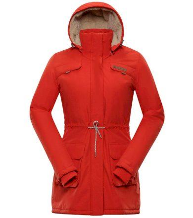 ALPINE PRO EDITE 5 Dámský zimní kabát LCTP103344 cherry tomato XL