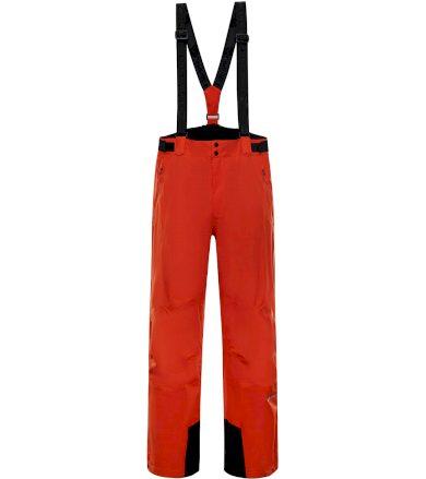 ALPINE PRO SANGO 7 Pánské lyžařské kalhoty MPAP394344 cherry tomato XS