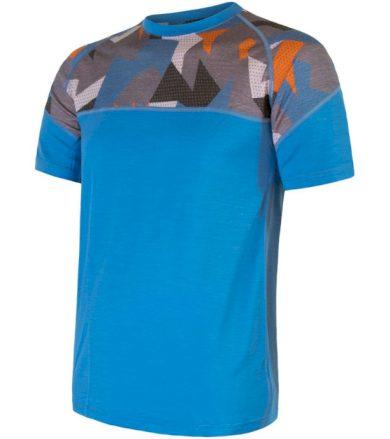 MERINO IMPRESS Pánské termo triko 21100004 modrá/camo S