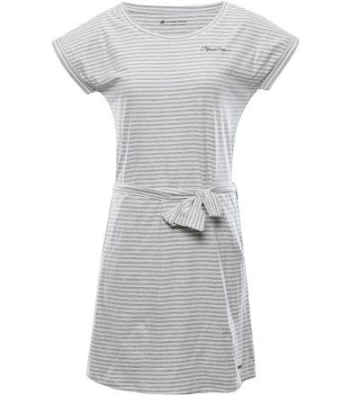 ALPINE PRO ASSIA Dámské šaty LSKT350773PD šedá L