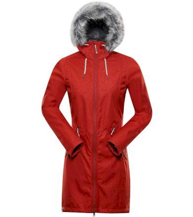 ALPINE PRO PRISCILLA 4 INS. Dámský softshellový kabát LCTS100424 ketchup S