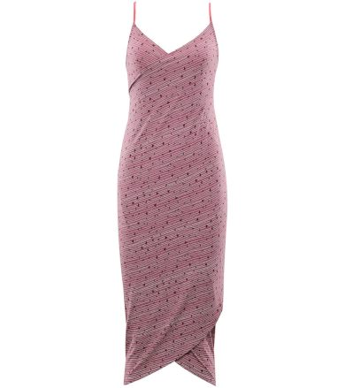 ALPINE PRO YARA Dámské plážové šaty LSKR223893PB bordeaux XS