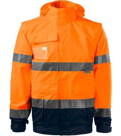 RIMECK HV GUARD 4 IN 1 Pracovní unisex bunda 5V298 reflexní oranžová XXXXL