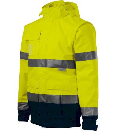 RIMECK HV GUARD 4 IN 1 Pracovní unisex bunda 5V297 reflexní žlutá XXXXL