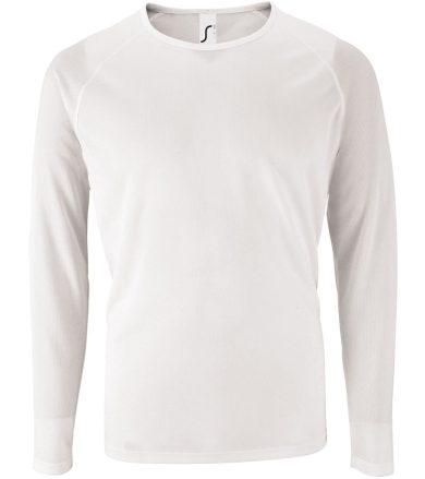 SOĽS Pánské funkční triko dlouhý rukáv SPORTY LSL MEN 02071102 Bílá 3XL