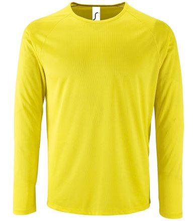 SOĽS Pánské funkční triko dlouhý rukáv SPORTY LSL MEN 02071306 Neon yellow 3XL