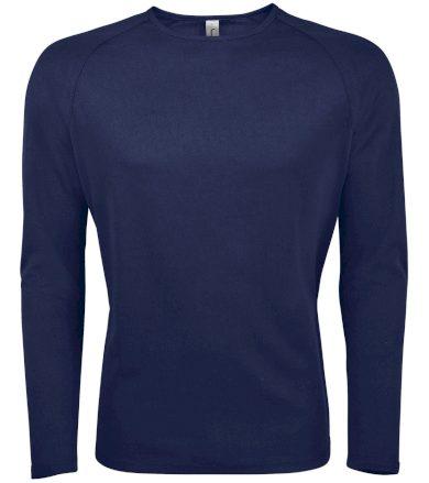 SOĽS Pánské funkční triko dlouhý rukáv SPORTY LSL MEN 02071319 Námořní modrá 3XL
