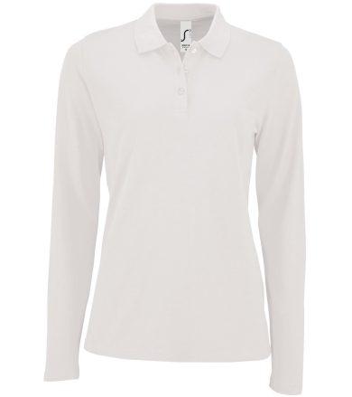 SOĽS Dámské polo triko dlouhý rukáv PERFECT LSL WOMEN 02083102 Bílá L