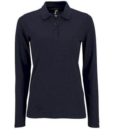 SOĽS Dámské polo triko dlouhý rukáv PERFECT LSL WOMEN 02083319 Námořní modrá L