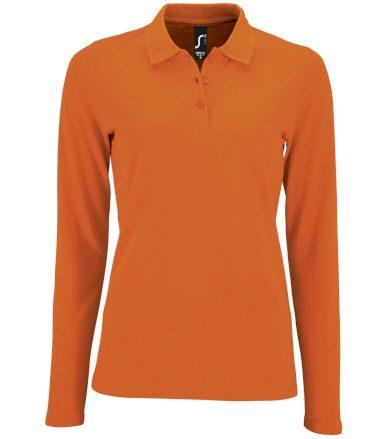 SOĽS Dámské polo triko dlouhý rukáv PERFECT LSL WOMEN 02083400 Orange L