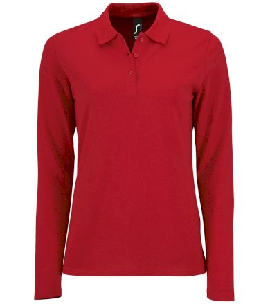 SOĽS Dámské polo triko dlouhý rukáv PERFECT LSL WOMEN 02083145 Red L
