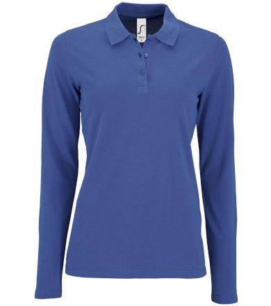 SOĽS Dámské polo triko dlouhý rukáv PERFECT LSL WOMEN 02083241 Royal blue L
