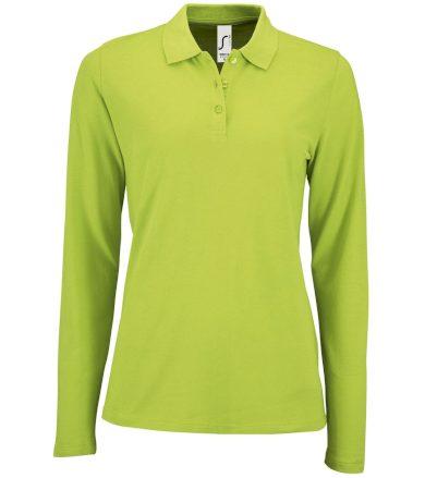 SOĽS Dámské polo triko dlouhý rukáv PERFECT LSL WOMEN 02083280 Apple green L