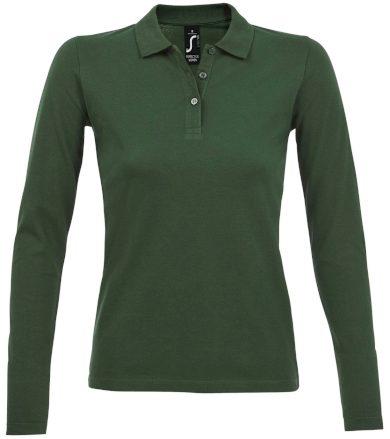 SOĽS Dámské polo triko dlouhý rukáv PERFECT LSL WOMEN 02083264 Bottle green 3XL