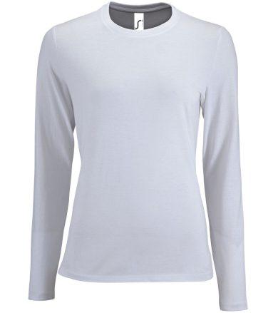 SOĽS Dámské triko dlouhý rukáv IMPERIAL LSL WOMEN 02075102 Bílá M