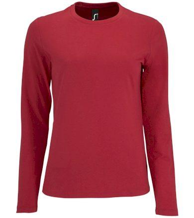 SOĽS Dámské triko dlouhý rukáv IMPERIAL LSL WOMEN 02075145 Red L
