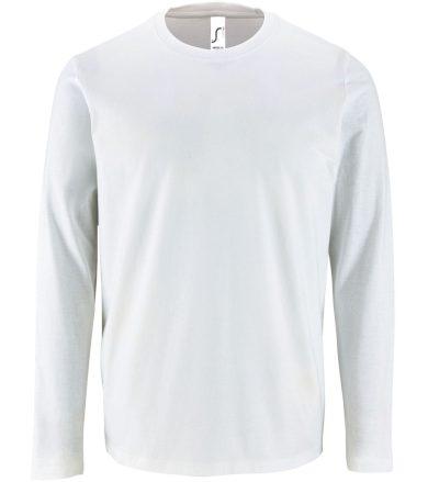 SOĽS Pánské triko dlouhý rukáv IMPERIAL LSL MEN 02074102 Bílá 3XL