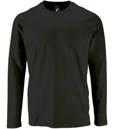 SOĽS Pánské triko dlouhý rukáv IMPERIAL LSL MEN 02074309 Deep black 3XL