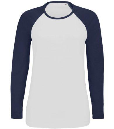 SOĽS Dámské tričko s dlouhým rukávem MILKY LSL 02943904 White / Navy L