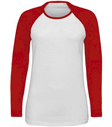 SOĽS Dámské tričko s dlouhým rukávem MILKY LSL 02943987 White / Red L