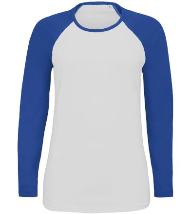 SOĽS Dámské tričko s dlouhým rukávem MILKY LSL 02943907 White / Royal blue L