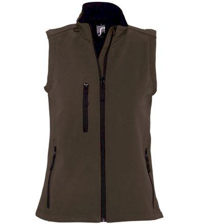 SOĽS Dámská softshellová vesta RALLYE WOMEN 46801394 Dark chocolate L